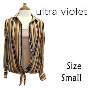 """Ultra Violet """"Chili"""" Tank and Button Front/Hem Tie"""